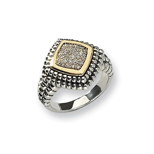 Sterling Silver w/14k Diamond Ring. Price: $169.30