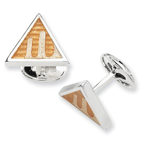 Sterling Silver Yellow Resin Fancy Cuff Links. Price: $42.98