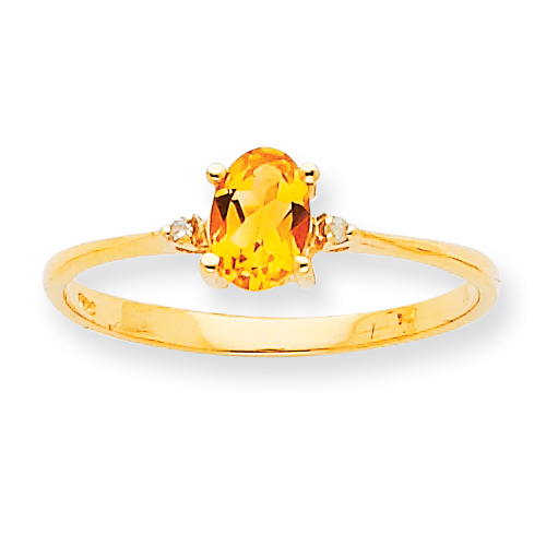 10k Polished Geniune Diamond & Citrine Birthstone Ring. Price: $103.86