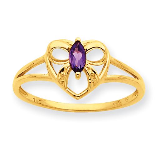 10k Polished Geniune Amethyst Birthstone Ring. Price: $94.62