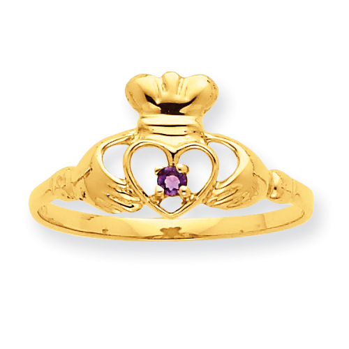 10k Polished Geniune Amethyst Birthstone Ring. Price: $99.28