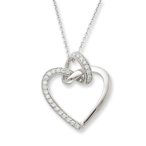 Sterling Silver CZ Friendship Promises 18in Necklace. Price: $65.50