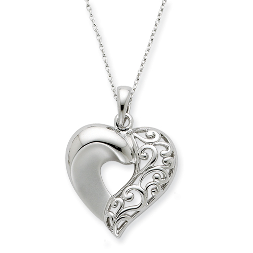 Sterling Silver Close To My Heart 18in Necklace. Price: $82.46