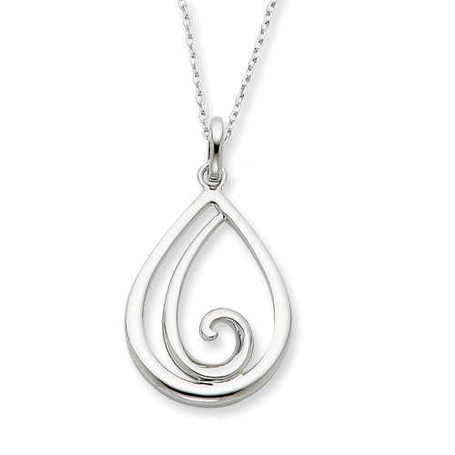 Sterling Silver Remember Me Always 18in Necklace. Price: $53.35