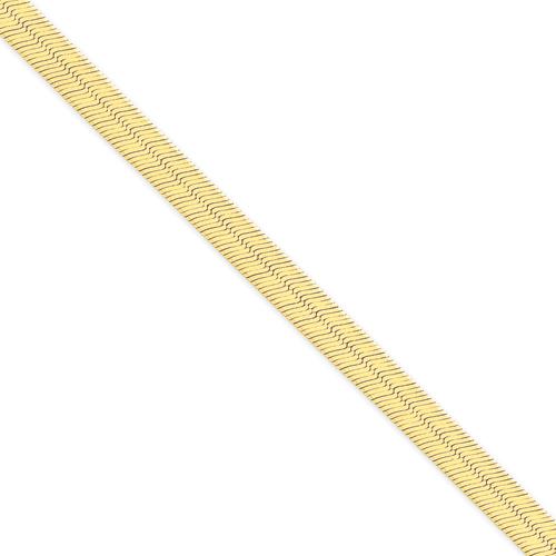 14k 6.5mm Silky Herringbone Chain. Price: $1194.25