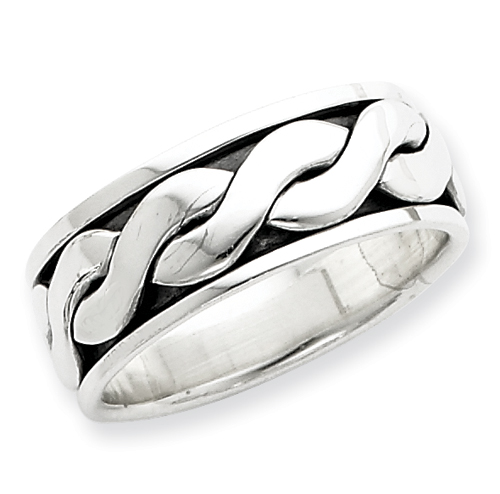 Sterling Silver Antiqued Band ring. Price: $41.00