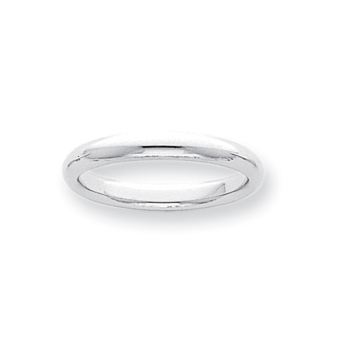 Platinum 3mm Half-Round Comfort Fit Lightweight Band ring. Price: $545.29