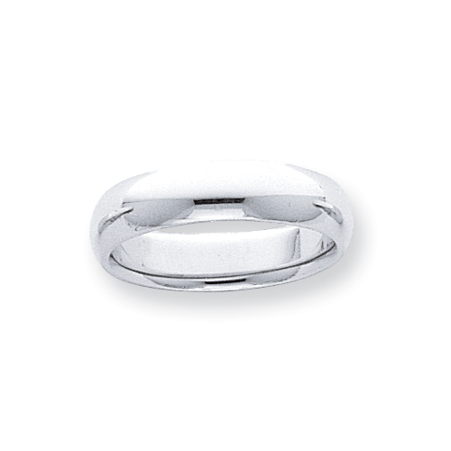 Platinum 5mm Half-Round Comfort Fit Lightweight Band ring. Price: $983.88