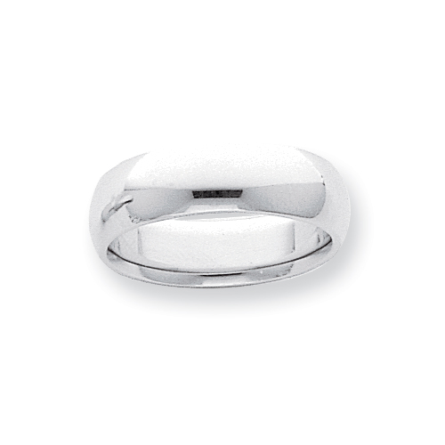 Platinum 6mm Half-Round Comfort Fit Lightweight Band ring. Price: $1207.36