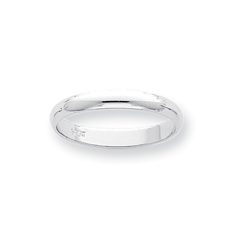 Platinum 3mm Half-Round Featherweight Band ring. Price: $393.42