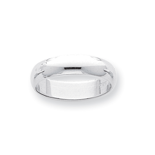Platinum 5mm Half-Round Featherweight Band ring. Price: $487.82