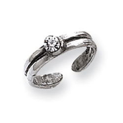 Sterling Silver CZ Toe Ring. Price: $9.65