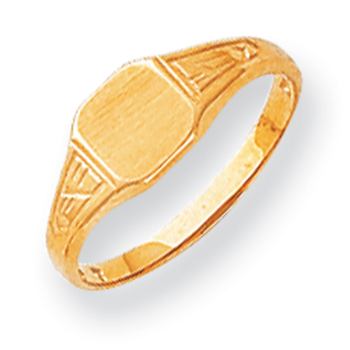 14K Gold Child's Signet Ring. Price: $132.60