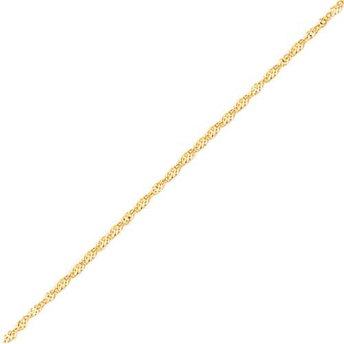 14K Gold 1.6mm Singapore Chain. Price: $106.74