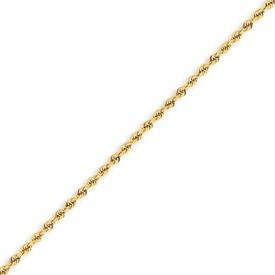 """14k 2mm Handmade Regular Rope Chain 18"""". Price: $381.52"""