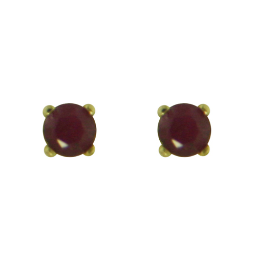 14K Gold Garnet Stud Earrings. Price: $48.50
