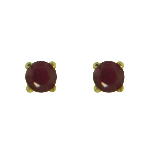 14K Gold Garnet Stud Earrings. Price: $48.50