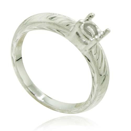 Platinum Engagement Mounting Ring. Price: $699.00