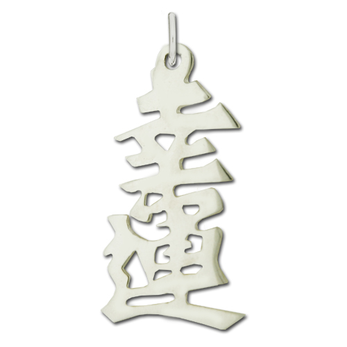"Sterling Silver ""Blessed"" Kanji Chinese Symbol Charm. Price: $39.95"