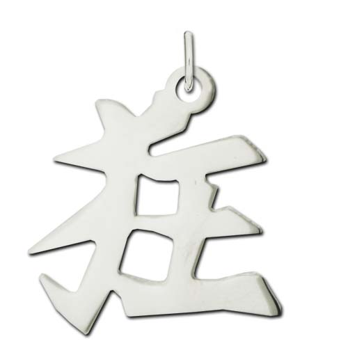 "Sterling Silver ""Crazy"" Kanji Chinese Symbol Charm. Price: $39.95"