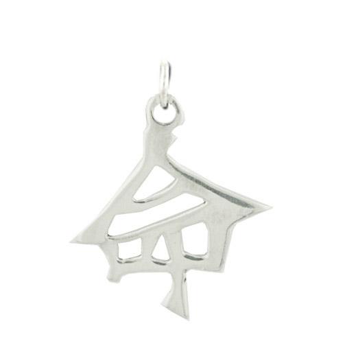 "Sterling Silver ""Destiny"" Kanji Chinese Symbol Charm. Price: $39.95"