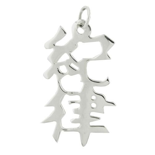 "Sterling Silver ""Discipline"" Kanji Chinese Symbol Charm. Price: $39.95"