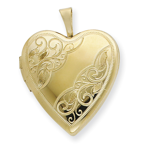 1/20 Gold Filled 20mm Side Swirled Heart Locket chain. Price: $49.64