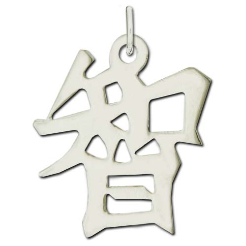 "Sterling Silver ""Wisdom"" Kanji Chinese Symbol Charm. Price: $39.95"