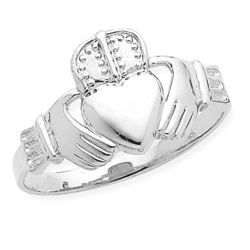 14K White Gold Men's Claddaugh Ring. Price: $253.20