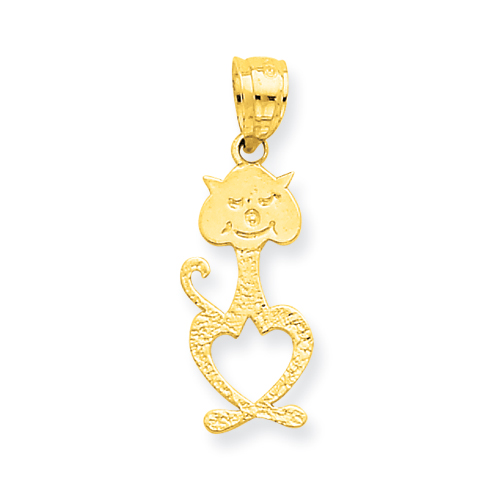 14K Cat w/Heart Cut-out Belly Pendant. Price: $41.86