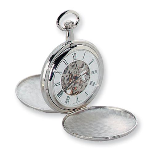 Charles Hubert Chrome-finish White Dial Pocket Watch. Price: $140.12