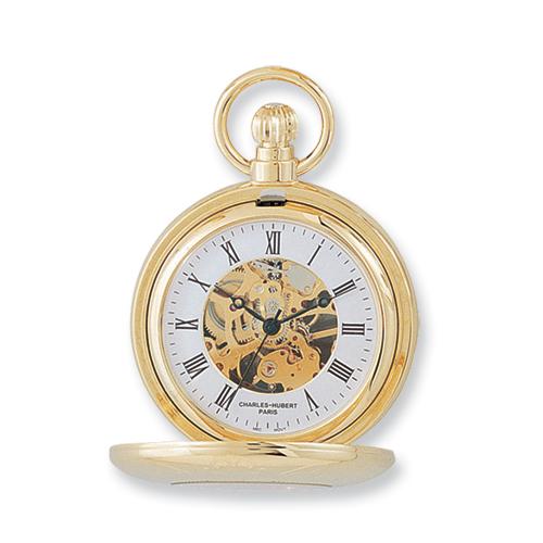 Charles Hubert 14k Gold-plated Pocket Watch. Price: $128.93