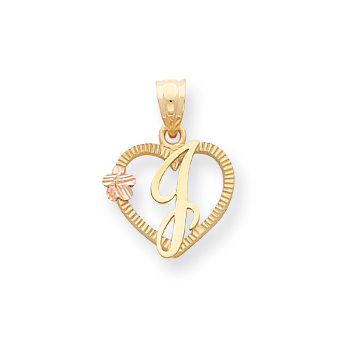 14k Two-Tone Initial J in Heart Charm. Price: $90.42