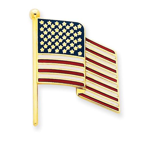 14k Enameled Flag Pin Charm. Price: $367.78