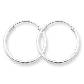 Sterling Silver 1.3mm Hoop Earrings. Price: $5.40