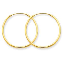14K Gold 1.25x24mm Endless Hoop Earring. Price: $55.16