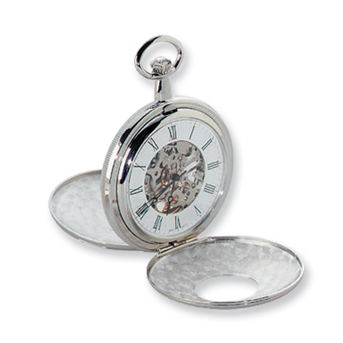 Charles Hubert Chrome-finish White Dial Pocket Watch. Price: $140.12