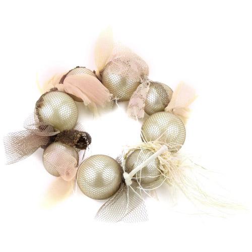 "Adia Kibur ""Adia by Adia Kibur"" Pearl Wrap Chiffon Lace Bracelet. Price: $39.95"