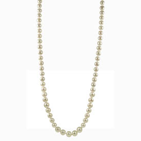 "14K Yellow Gold 8.5-9mm Freshwater Pearl 36"" Necklace. Price: $326.00"
