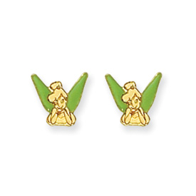 14K Disney Tinkerbell Earrings. Price: $59.20