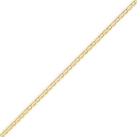 14K Yellow Gold 1mm Anchor Link Anklet. Price: $78.20