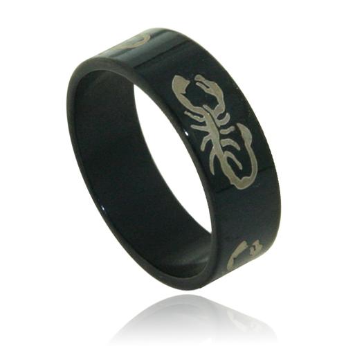 Stainless Steel  Black Scorpio Band. Price: $12.95