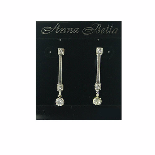 Anna Bella Fashion Post Drop CZ Earrings. Price: $6.95