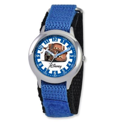 Disney Cars Tow Mater Blue Velcro Band Time Teacher Watch. Price: $40.00