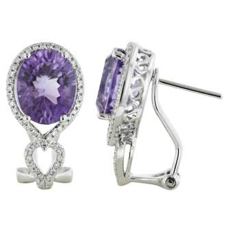 Amethyst Diamond Earrings. Price: $1068.00