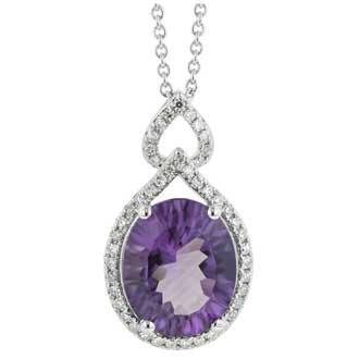 Amethyst Diamond Necklace. Price: $784.00