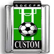 Custom Soccer Photo Charm