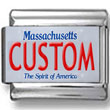 Massachusetts License Plate Custom Charm