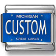Michigan License Plate Custom Charm