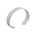 Sterling Silver Three Lines Cuff